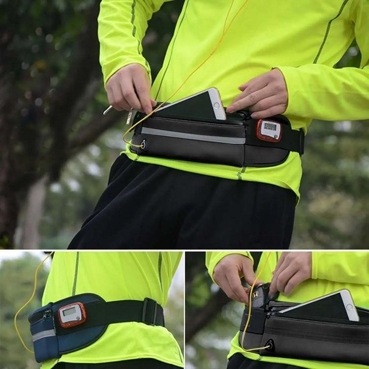 Löparbälte med reflex och vätskehållare