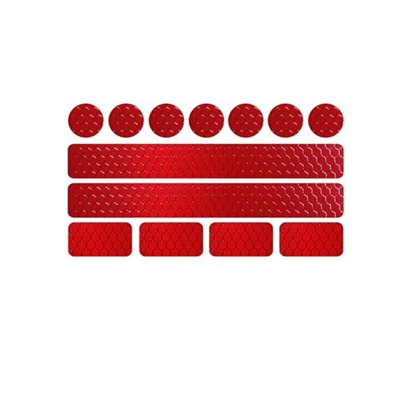 Röda Reflexdekaler för kläder, cykel, moped, barnvagn m.m.