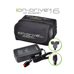 iON-Drive 16 Ah / 12V Litiumbatteri inkl. Laddare