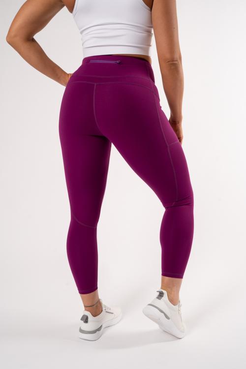 lila leggings av kvalitet