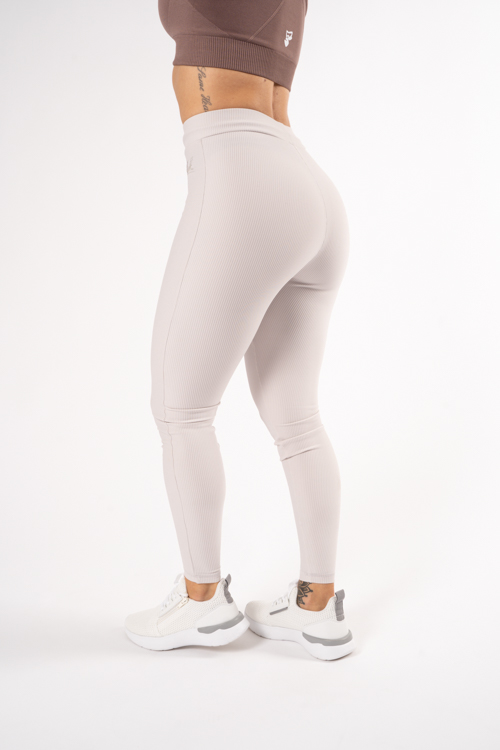 Chiq Ribbed Tights Beige