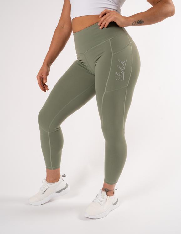 Gröna leggings som är squatproof