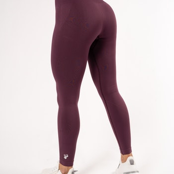 Happy Seamless Tights Plum