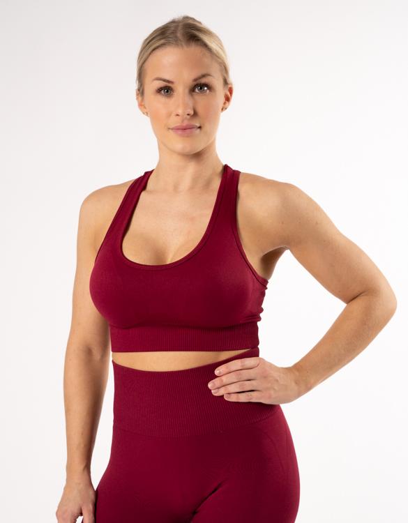 röda seamless träningskläder