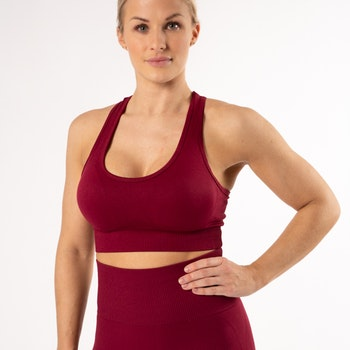Happy Seamless Sports Bra Red