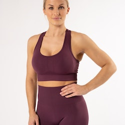 Happy Seamless Sports Bra Plum