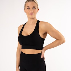 Happy Seamless Sports Bra Black