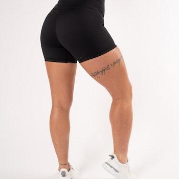 Classic Black High Waist Shorts