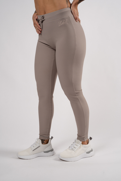 Chic Ribbed Tights Svart Blå Khaki