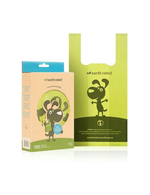 Earth Rated Eco-Friendly m handtag 120 st Bajspåsar