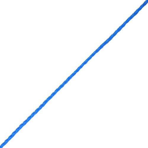 Slangflätad Polyeten Blå [Metervara]