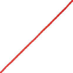 Slangflätad Polyeten Röd [Metervara]