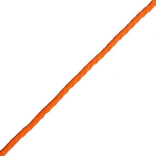 Slangflätad Polyeten Orange [Metervara]