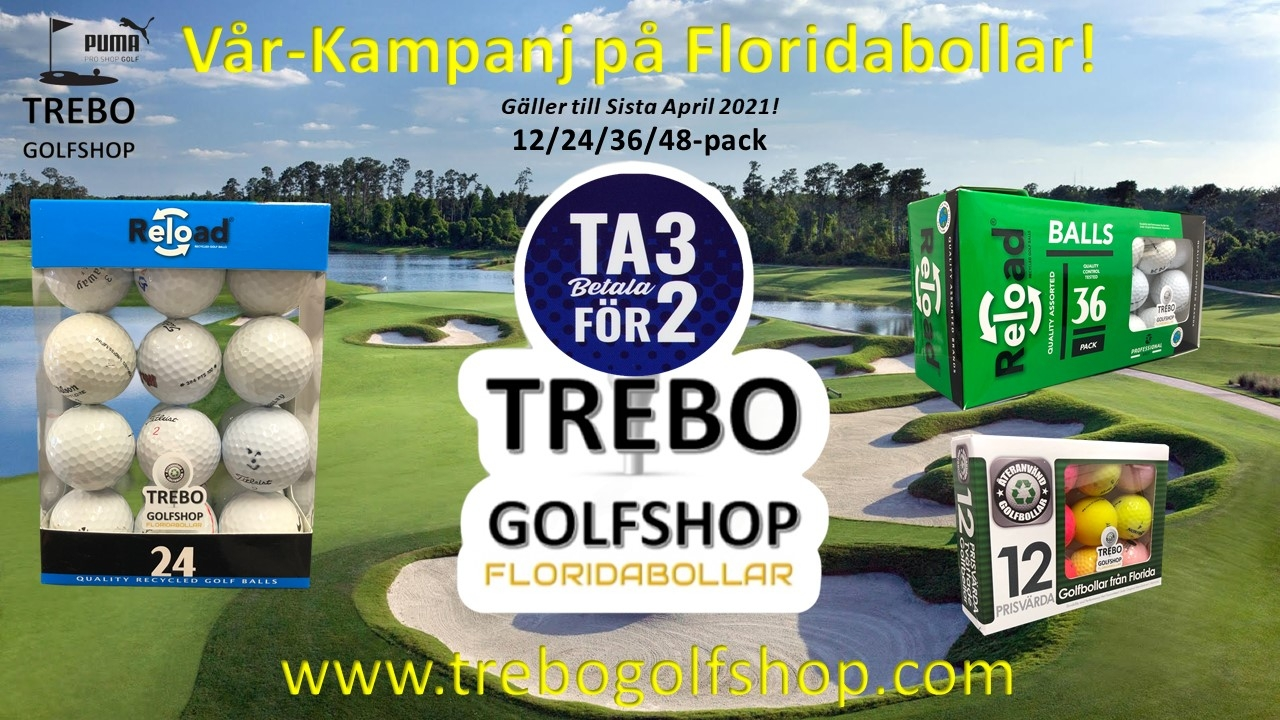 3 för 2 på Florida Golfbollar - Trebo Golfshop