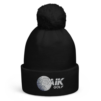 Pom pom beanie SAIK Golfklubb - Black