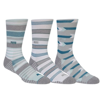 Puma Fusion Stripe Crew Sock 3 Pair Pack