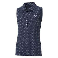 Puma Girls Cloudspun Sleeveless Polka Polo