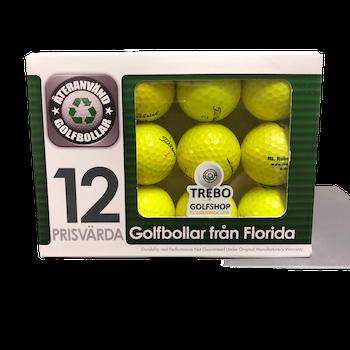 Titleist Gula, Floridabollar AAA-Grade, 12-pack
