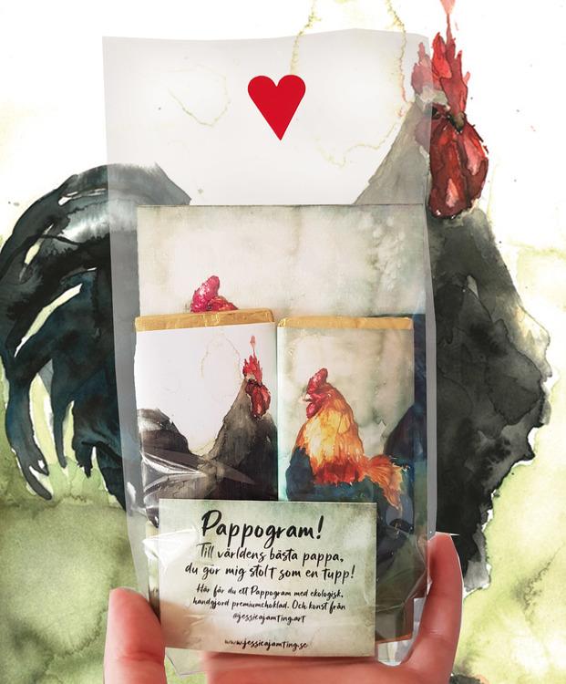 Pappogram – Mörk choklad