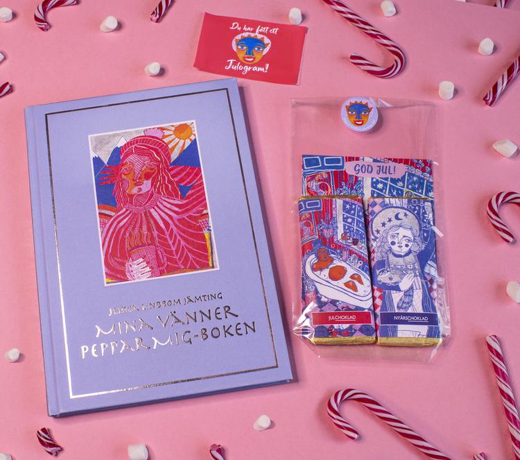 Mina vänner Peppar mig-boken och Julogram