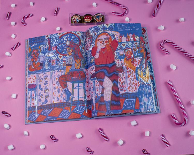 Mina vänner Peppar mig-boken + Valfri print