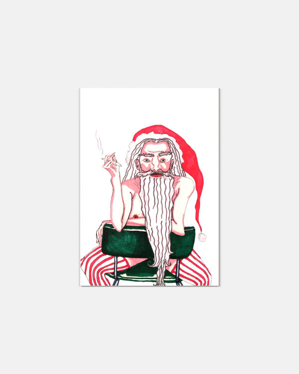 Sexy Santa julkort - 4 olika motiv