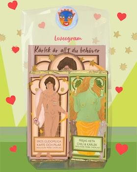 LOVEOGRAM – Mörk choklad & kärleksgudar