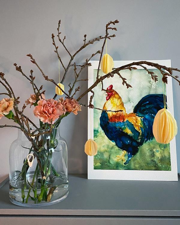 Den ståtliga tuppen 30x42 – Fine Art Print