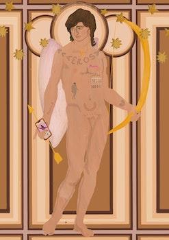 Eros, grekiska mytologins kärleksgud – Print