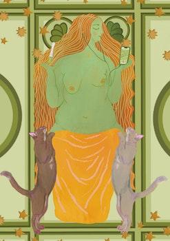 Freja, nordiska mytologins kärleksgudinna – Print