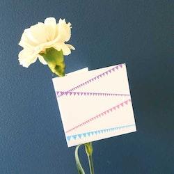 Gratulationskort - Kalas 8cm