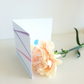 Gratulationskort - Lila 8cm