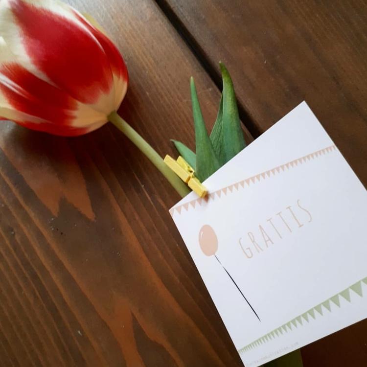 Grattis med blomma