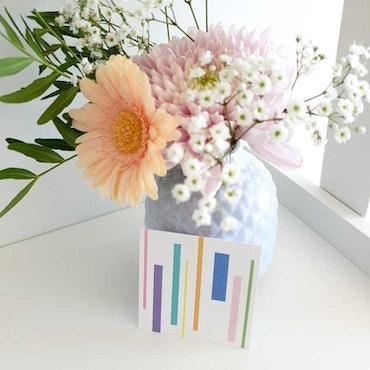 Grattiskort - Blomma 8cm