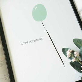 Print - Ballong Grön