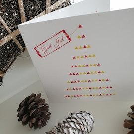 Julkort - Julgran 12cm
