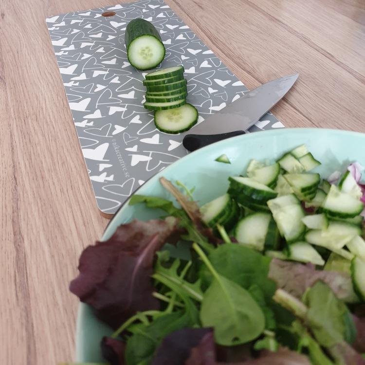 Skärbräda till grönsakerna