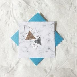 Gratulationskort - Marmor 8cm