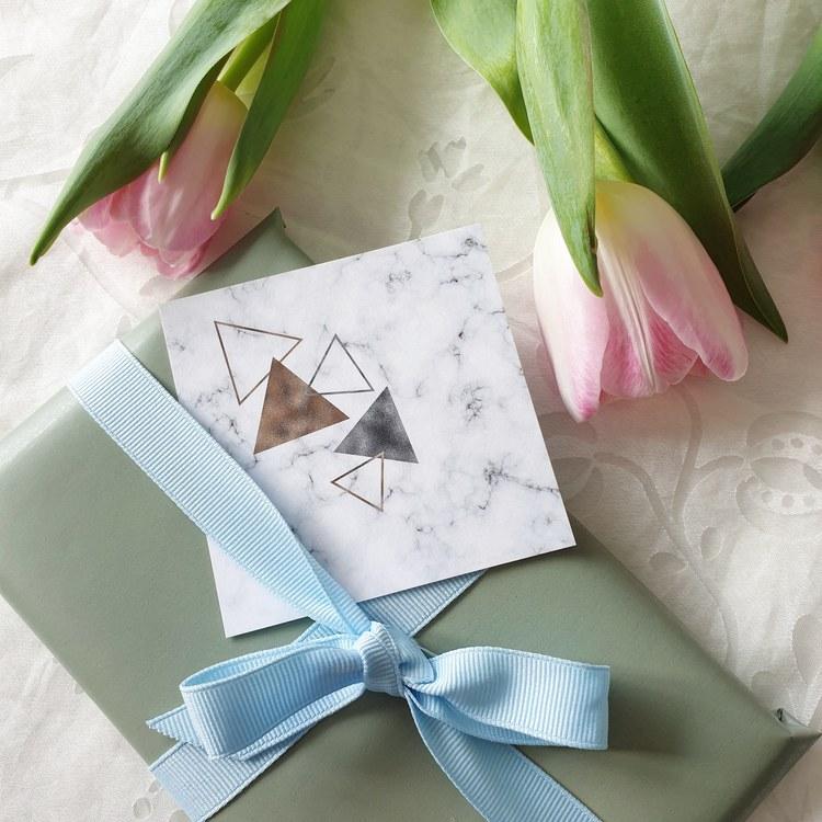 Gratulationskort i marmor
