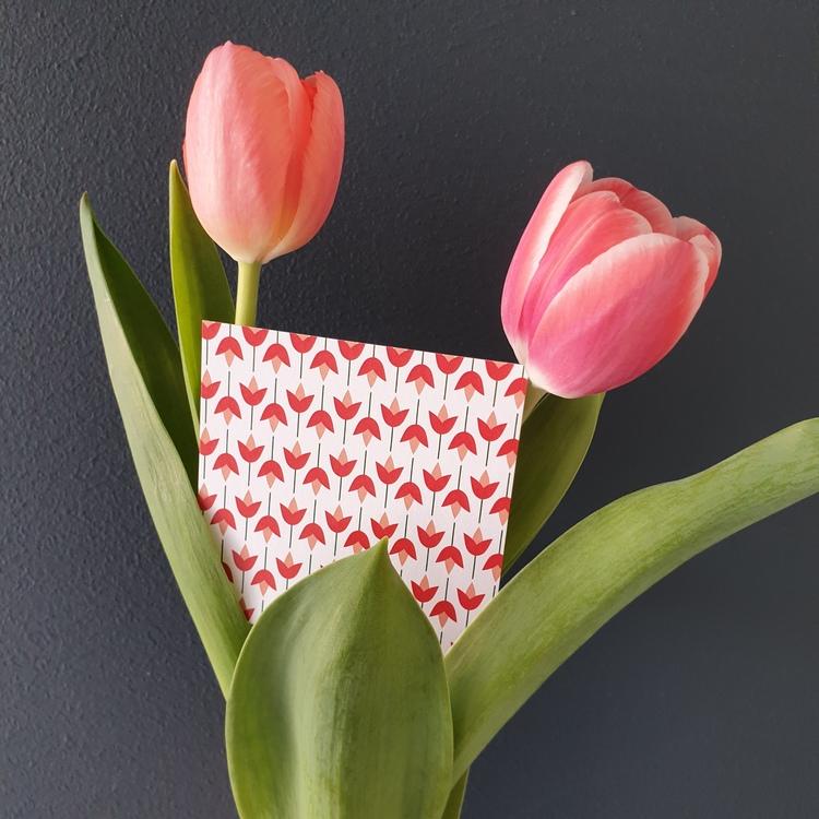 Grattiskort med tulpaner
