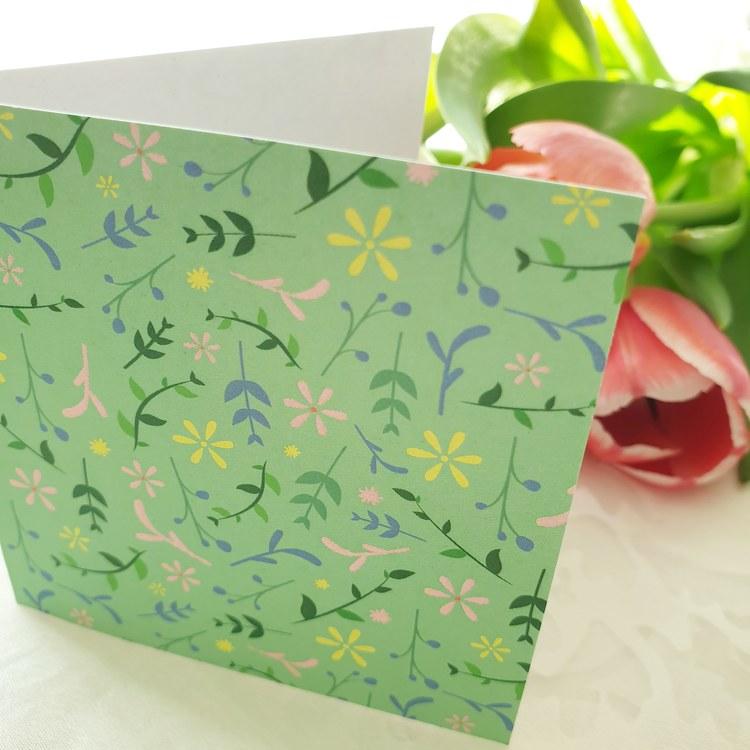 Gratulationskort i grönt