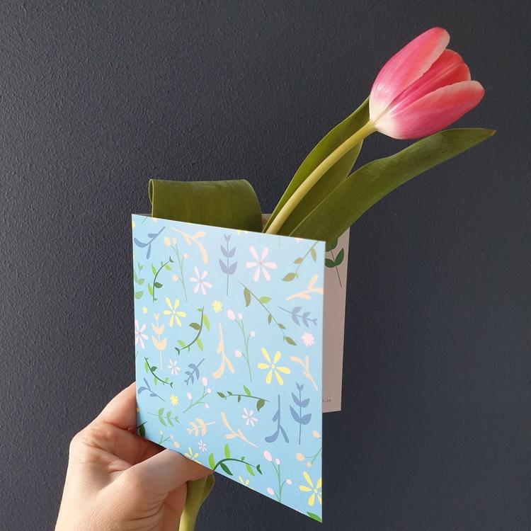 Gratulationskort till tulpanerna