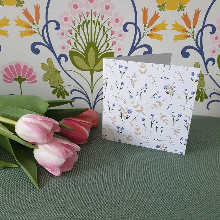 Gratulationskort till tulpaner