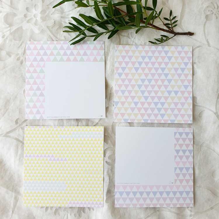 Gratulationskort med olika mönster