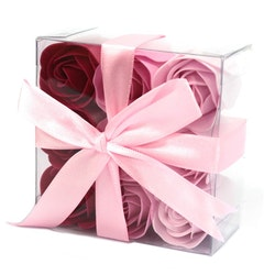 Set of 9 Soap Flowers - Rosa rosor