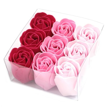 Set of 9 Soap Flowers - Rosa rosor