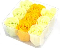 Set of 9 Soap Flowers - Vår rosor