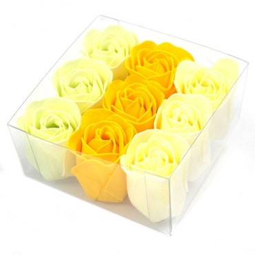 Set of 9 Soap Flowers - Vår rosor