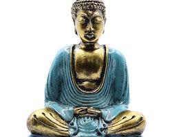 Handmålad Buddha - Blå