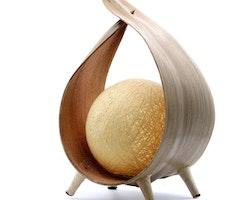 Naturlig kokosnöt lampa
